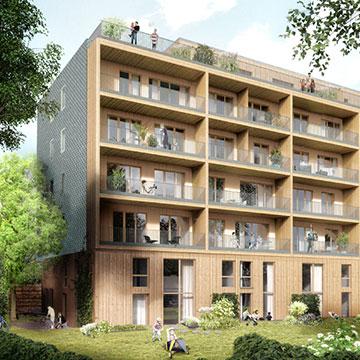 scharabi walden 48 neubau eines mehrfamilienhauses in holzbauweise. Black Bedroom Furniture Sets. Home Design Ideas